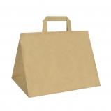 Torba papierowa TAKE AWAY CATERINGOWA 26x17,5x24,5/ 100 szt/ brązowa