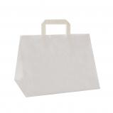 Torba papierowa TAKE AWAY CATERINGOWA 26x17,5x24,5/ 50 szt/ biała