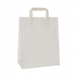 Torba papierowa TOPCRAFT KRAFT  uchwyt składany 32x14x42 /100 szt/ biała