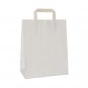 Torba papierowa TOPCRAFT KRAFT  uchwyt składany 18x8x22 /50 szt/ biała