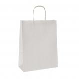 Torba papierowa TOPTWIST KRAFT biała uchwyt sznurkowy 54x15x49 /100 szt/ biała