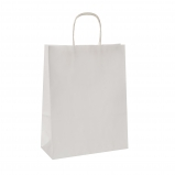 Torba papierowa TOPTWIST KRAFT biała uchwyt sznurkowy 54x15x49 /50 szt/ biała