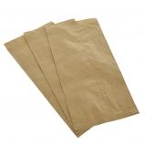 Torba papierowa fałdowa brązowa  21x8x38 / 1000 szt/