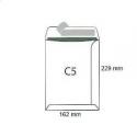 Koperty biurowa C 5 SK /162x229/- białe  500 szt.