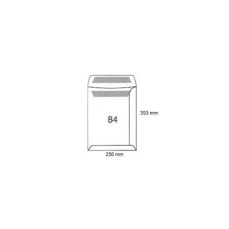 Koperty biurowa B 4 HK /250x353/- białe 250 szt.