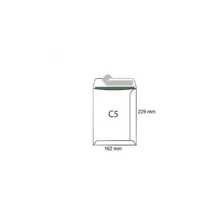 Koperty biurowa C 5 HK /162x229/- białe  500 szt.