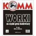 Worki budowlane z folii LDPE  60x100 / 5 szt/