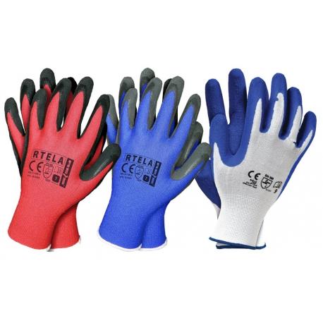 Rękawice robocze RTELA_N latex / 100 par/