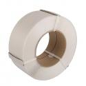 Zestaw :Taśma polipropylenowa  PP 16mm x 0,8mm x 1500 / 1 rolka/ + Zapinki druciane 16mm/1000 szt/
