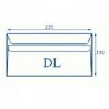 Koperty biurowa DL SK /220 x 110/- białe  1000 szt.