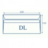 Koperty biurowa DL SK /220 x 110/- białe  100 szt.
